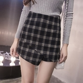 不規則短裙-時尚復古個性百搭女裙子2色73kj67【巴黎精品】