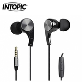 【INTOPIC 廣鼎】JAZZ-i108 人體工學耳機麥克風(黑)