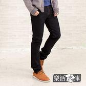 【7048】MIT韓系原色修身小直筒牛仔褲(黑色)● 樂活衣庫