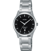 ALBA 雅柏 城市簡約時尚女錶-黑x銀/28mm VJ22-X243D(AH7M21X1)