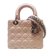 Dior 迪奧 粉色羊皮手提肩背2way包 黛妃包 Lady Dior Cannage 01-BO-015【BRAND OFF】