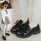 女童皮鞋瓢鞋公主鞋秋季新款時尚英倫風黑色寶寶兒童單鞋韓版  英賽爾3