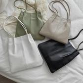 促銷大容量包包女包新款簡約pu軟皮側背大包手提包女士包袋水桶包 宜室