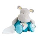 GMPBABY 法國娃娃Doudou-灰藍河馬玩具手巾布偶28cm