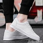 小白鞋春季韓版潮流男鞋子百搭休閒板鞋男士小白鞋男生白色潮鞋 科炫數位
