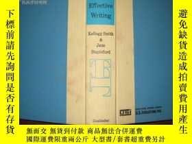 二手書博民逛書店EFFECTIVE罕見WRITING9112 JANE STAP