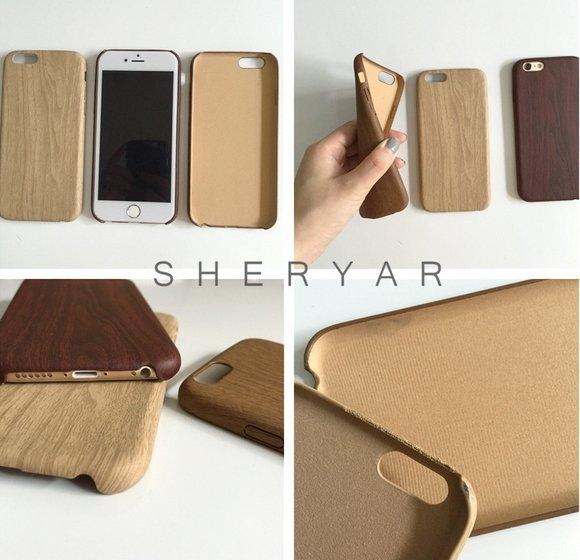 簡約文藝木紋iphone6 plus手機殼iphone6超薄皮套5s軟殼保護套