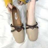 中跟鞋 女鞋新款春季奶奶鞋粗跟單鞋韓版春秋百搭中跟豆豆鞋子女 夢幻衣都
