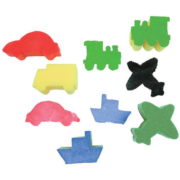 海綿印章-交通工具 兒童幼兒教具教學道具彩繪著色畫圖用具親子同樂綜合活動藝術與人文