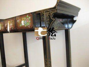 新古典中式漆器金箔 三抽屜櫃