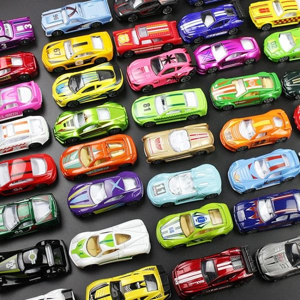 兒童合金小汽車套裝迷你軌道賽車跑車模型仿真工程玩具車寶寶男孩車載擺 時尚教主
