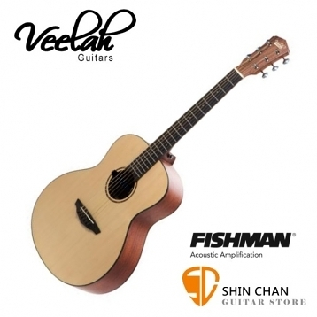 Veelah旅行吉他 mini camper 電木吉他/36吋旅行小吉他 MC-ME/雲杉面單板/Fishman拾音器 附原廠吉他袋