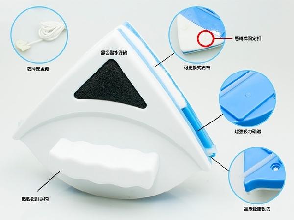 【雙面玻璃擦】3-8mm雙層磁性玻璃清潔器 擦窗戶 玻璃清潔刷 三角形擦窗器 清洗器