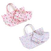 【KP】三麗鷗滿版草莓緞帶提袋  美樂蒂 雙子星 化妝包 子母包 正版日本進口授權 DTT0522355