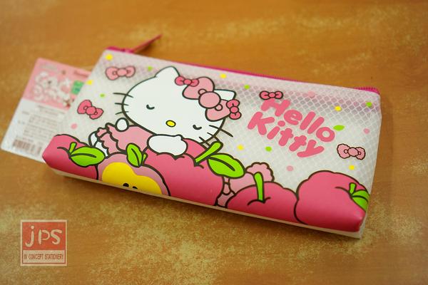 Hello Kitty 白日夢系列 網紋筆袋 蘋果