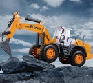 挖掘機玩具 鉆地機玩具大號鉆土機破碎拆機模型兒童工程車鉆機車挖掘機【快速出貨八折搶購】