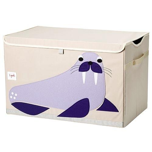 加拿大 3 Sprouts玩具收納箱-海象[衛立兒生活館]