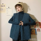 秋季仿羊羔毛馬甲女秋冬2020年新款韓版寬鬆外穿無袖坎肩背心 【快速出貨】