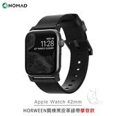 【A Shop】NOMAD x HORWEEN皮革 Apple Watch質樸黑皮革錶帶 42/44 mm (摩登款)