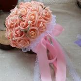 韓式新娘手捧花結婚仿真玫瑰花束拍照道具
