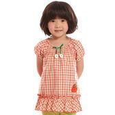 【愛的世界】純棉鬆緊帶草莓格紋洋裝/4歲-台灣製- ★春夏上著