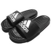 Adidas VOLOOMIX GR -黑銀LOGO男款拖鞋- NO.AQ5897