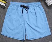 夏季速干休閒短褲男士寬鬆五分沙灘褲潮流運動男褲子-Ifashion