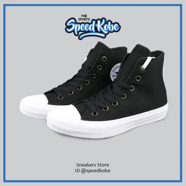 CONVERSE 帆布鞋 Chuck 2 Lunarlon底 2代 黑白 高筒 情侶鞋 男女 150143C 【SP】