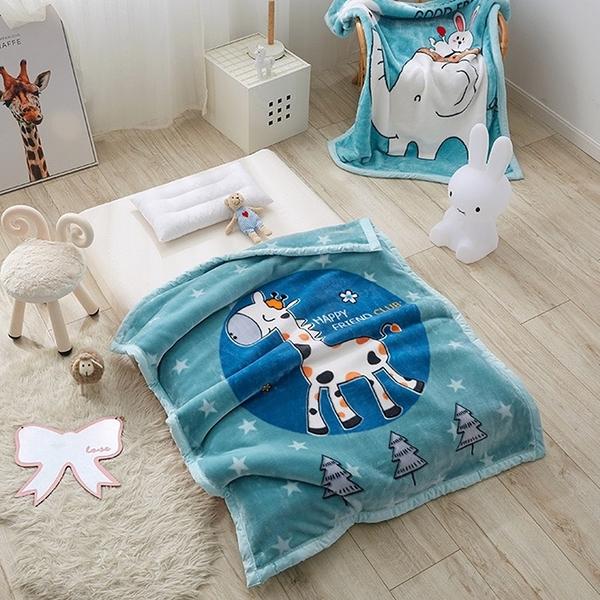韓系可愛風 秋冬必備雙層加厚多功能法蘭絨雲毯 兒童毯《芝麻街》