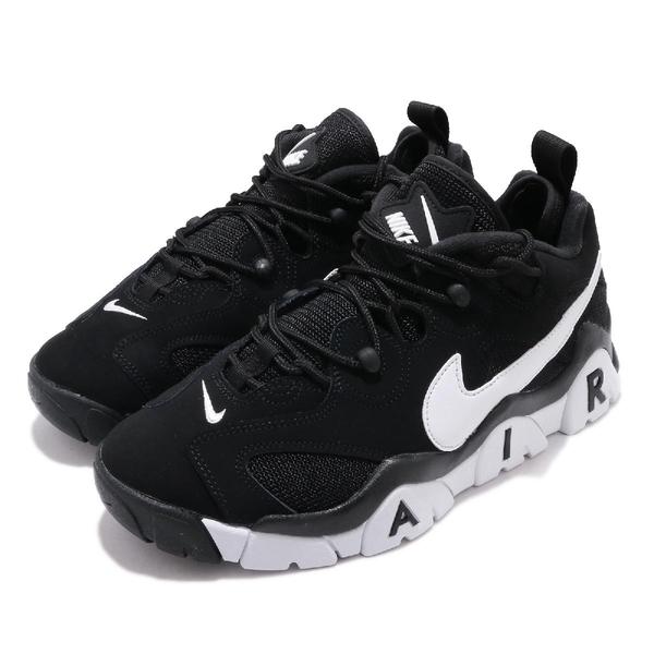 Nike 休閒鞋 Air Barrage Low 黑 白 男鞋 女鞋 復古籃球鞋 大勾勾 復刻 【ACS】 CD7510-001