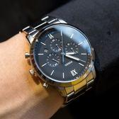 FOSSIL NEUTRA 中世紀設計三眼計時腕錶 FS5384 熱賣中!
