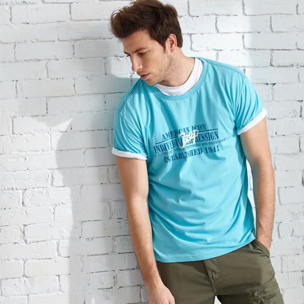 【JEEP】網路限定 創意圖騰T恤-藍色