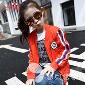 春夏童裝女童外套春秋棒球服韓版大童休閑夾克兒童薄款空調衫上衣