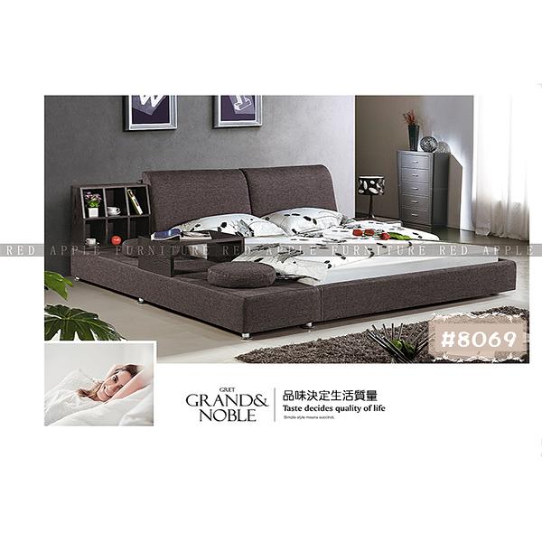 [紅蘋果傢俱] LW 8069 6尺軟床  布床 皮藝床  雙人床 歐式床台 實木床