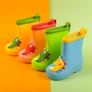兒童雨鞋學生雨衣寶寶水鞋嬰幼兒男童女小童套裝加絨可愛防滑雨靴 【快速出貨】