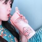 玻璃杯帶吸管韓製原宿水杯女學生可愛創意韓製成人少女心清新杯子【快速出貨】