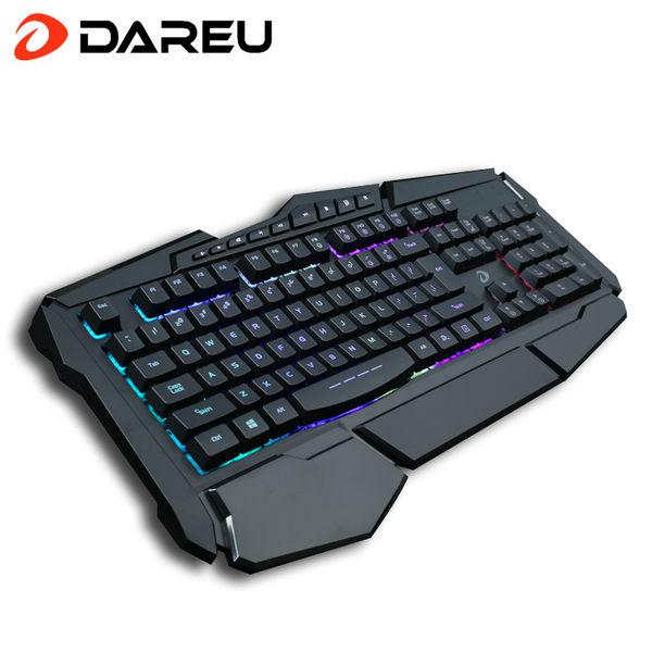 達爾優LK160背光游戲有線鍵盤筆記本電腦台式發光網吧機械手感lol  SSJJG