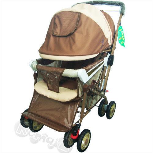 【奇買親子購物網】IAN BABY 9998(889)豪華加寬超大型 嬰兒手推車(藍/深藍/咖啡)/鋁合金/台灣製