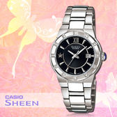 CASIO手錶專賣店 卡西歐 SHEEN SHE-4500D-1A 女錶 星星點綴精緻 藍寶石玻璃錶面 不鏽鋼錶帶與錶殼