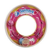 ~是洗澡玩具,不是游泳脖圈喔~Swimava 迷你粉紅甜甜圈沐浴玩具1 入