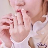 戒指 韓國直送‧彩鑽雙層指環戒指-Ruby s 露比午茶