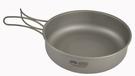 [好也戶外]RHINO 犀牛 超輕鈦合金煎鍋(鍋把可折疊收納) No.KT-84