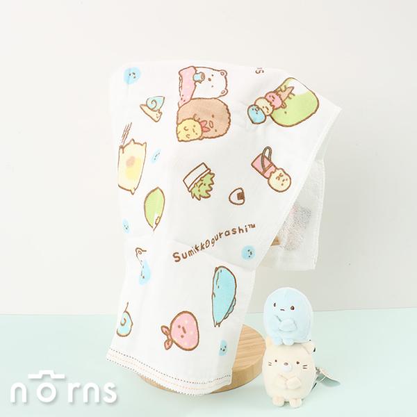 【角落生物紗布童巾S號】Norns SAN-X角落小夥伴 純棉吸水毛巾 洗臉巾 手帕口水巾