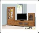 {{ 海中天休閒傢俱廣場 }} G-02 摩登時尚 電視櫃系列 223-3 愛莉絲柚木9.5尺L型櫃
