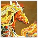 美式馬玄關裝飾畫北歐風格餐廳客廳沙發背景牆掛畫過道走廊壁畫 QM 依凡卡時尚