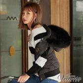 Victoria 織紋變化拉克蘭長袖線衫-女-白底黑粗條