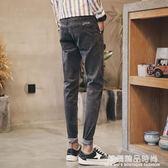 春季牛仔褲男士2018韓版潮流修身彈力九分褲小腳夏季薄款9分褲子