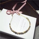 鑲鑽髮圈(任兩件)-唯美氣質綁帶設計女髮箍2款73gi37【時尚巴黎】