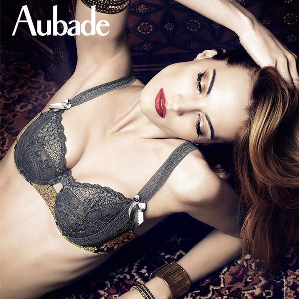 Aubade-俄羅斯娃娃S-L蕾絲丁褲(灰)X1