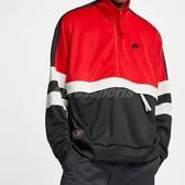 Nike 立領外套 NSW AIR Jacket PK 紅 黑 白 復古 外套 運動夾克 男款 【PUMP306】 AR1840-657